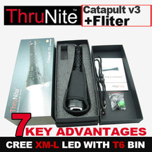 Free shipping ThruNite Catapult V3 XM-L LED Flashlight Torch 900lumens + Fliter for Catapult