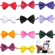 Hot Selling Kids fashion tuxedo bow tie Girls red and black groom marry groomsmen wedding party colorful Solid butterfly cravats