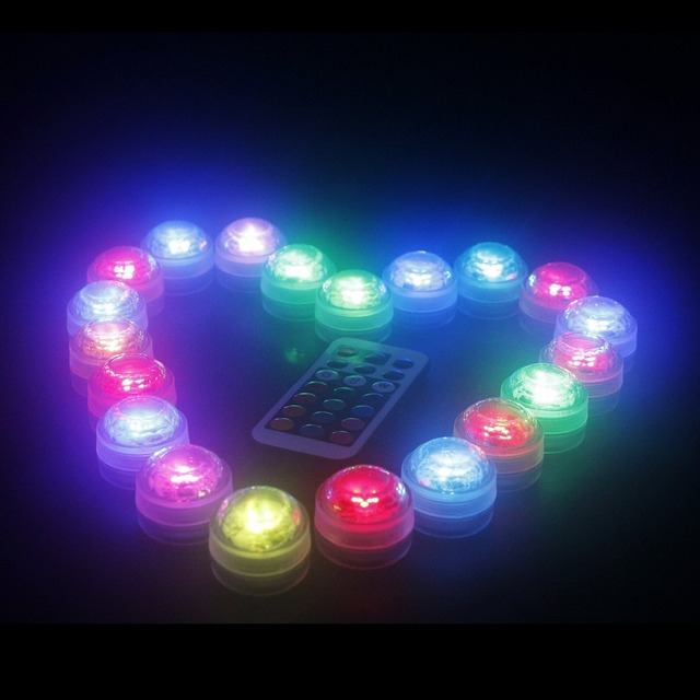 12pcs/Lot Super Bright 3LED Submersible LED Floralyte Light Waterproof LED Mini Party Light For Wedding Party Events Decoration