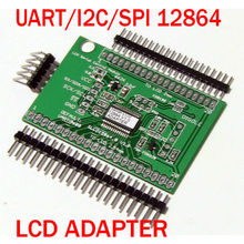 Universal Serial:UART/IIC/I2C/SPI Adapter for 128x64 LCD(ST7920/KS0108/ST7565)+Arduino Library and sample code