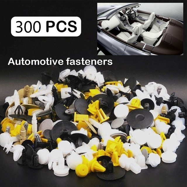 Rivet Fasteners Expansion Car Body Push Pin Durable Screwdriver Vehicle Trim Moulding Mixed 300PCS Plastic Door Panel