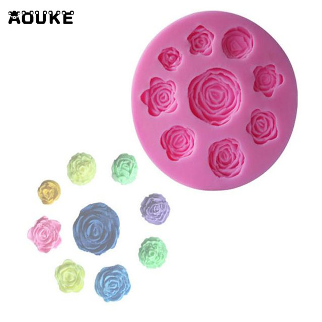 Flowers Fondant Cake Silicone Mold Biscuits Chocolate Decoration Mould Pastry Cookies Molds DIY Baking Cake Tools