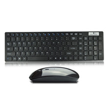 Wireless Keyboard and Mouse High Quality Ultra thin White 2.4G Multimedia Cordless Keyboard Mouse Combo Set #T2G