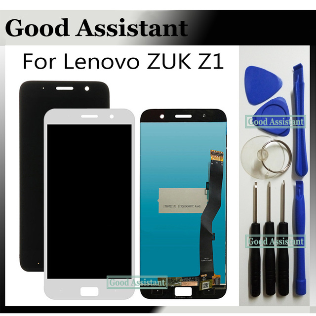 High Quality White/Black 5.5 inch For Lenovo ZUK Z1 Z1221 LCD Display + Touch Screen Digitizer Assembly Replacement + Tools