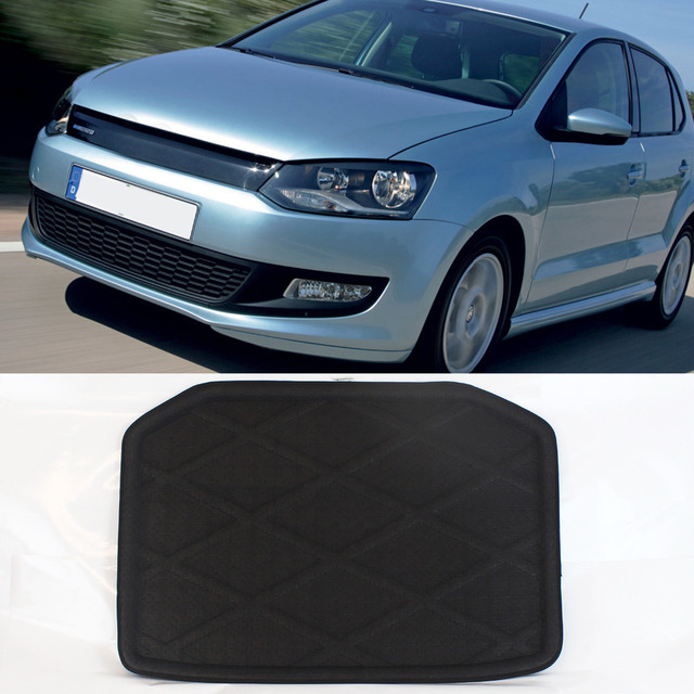 Rear Trunk Cargo Mat Boot Liner Suitable Rubber Floor Protector Trunk Tray Mat  For Volkswagen Polo Hatchback before 2015