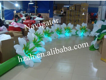 Inflatable LED Flower Chain for Party Decoration