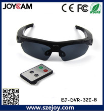Free shipping  EJ-DVR-32I 5MP HD 720P Camera remote control 170 degree wide  Sunglass camera