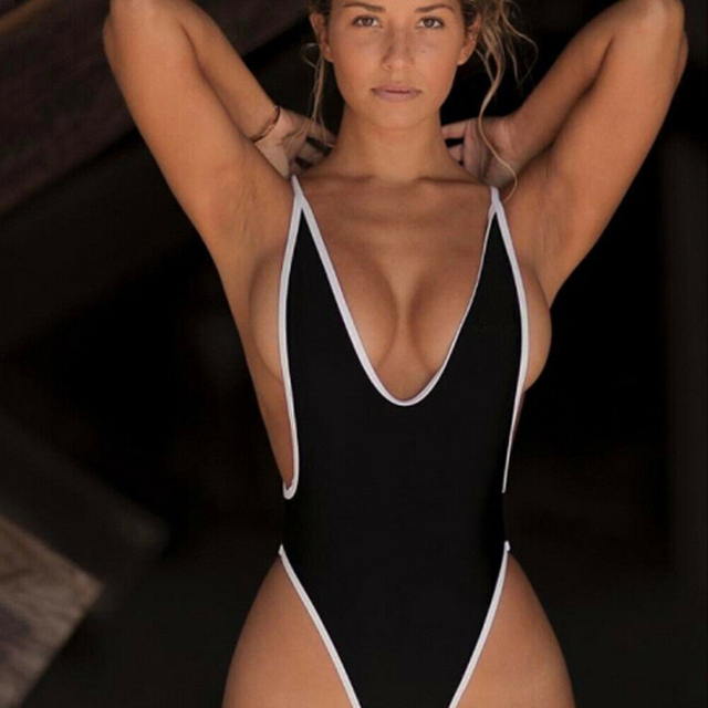 One Piece Sexy V Neck Swimsuit Swimming Bathing Suit Women Backless Monokini Playa Swimwear Push Up Bikini maillot de bain femme