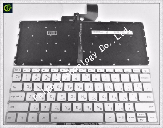 Russian Keyboard for Xiaomi MI Air 13.3 inch 9Z.ND7BW.001 MK10000005761 490.09U07.0D01 notebook RU silver Backlit New