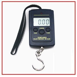 40kg x 10g Hanging Balance Electronic Portable Fishing Digital Pocket Scale,lb oz kg, larger LCD display