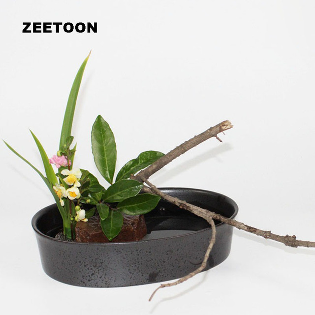Zen Vintage Flowerpot Flower Pot Desktop Vase Ikebana Flower Arrangement Planters Coarse Pottery Oval Fish Tank Hydroponic Basin Buy Inexpensively In The Online Store With Delivery Price Comparison Specifications Photos