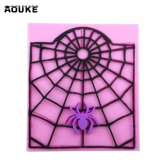 Spider Web Cartoon Fondant Cake Silicone Molds Pastry Chocolate Mould Pudding Biscuits Mold Cake Decoration DIY Baking Tools