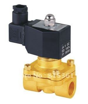 """Free Shipping 5PCS 2 Way Solenoid Operated Pneumatic Air Valve Brass 1/2"""" 220V AC DIN Coil"""