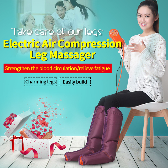 Air Compression Massager for leg Electric Circulation Leg Wraps Healthcare Foot Ankles Calf Therapy Slimming Relaxation Massj