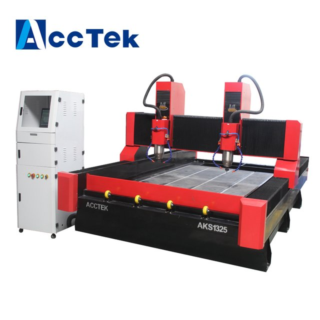 china machinery two 5.5kw spindle  stone engraving cnc router