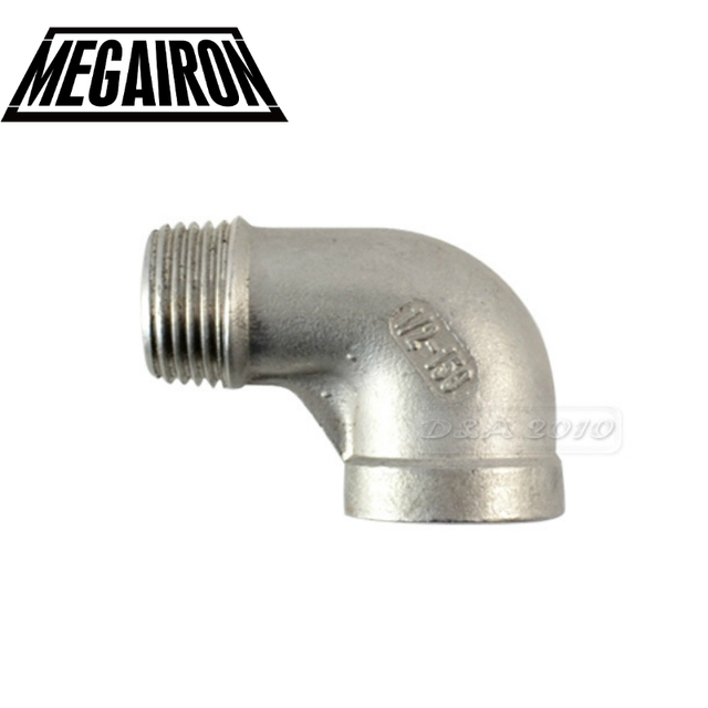 MEGAIRON BSPT Female x Male Street Elbow Threaded Pipe Fitting Stainless Steel 304