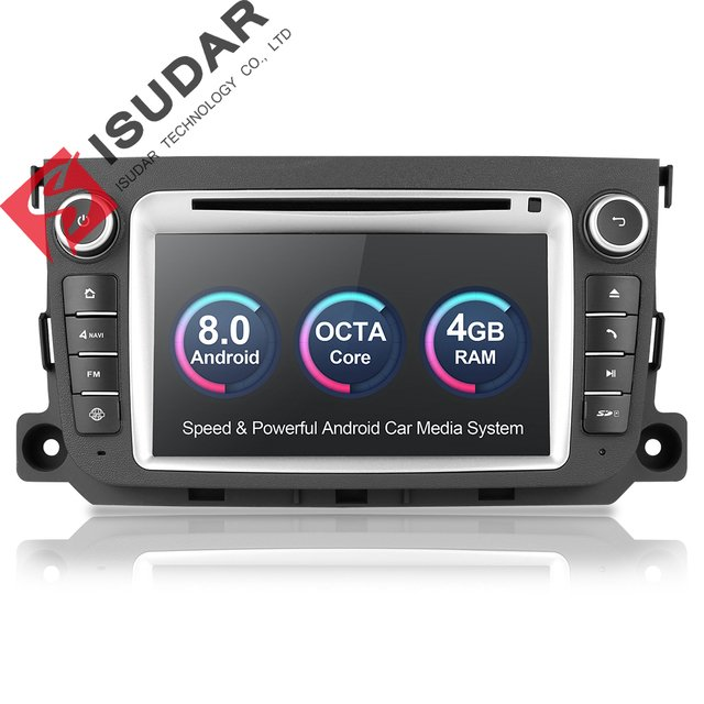 Isudar Car Multimedia Player 2 din Car Radio GPS Android 8.0 For Mercedes/Benz/Smart/Fortwo Octa Core DSP Rear view camera Wifi