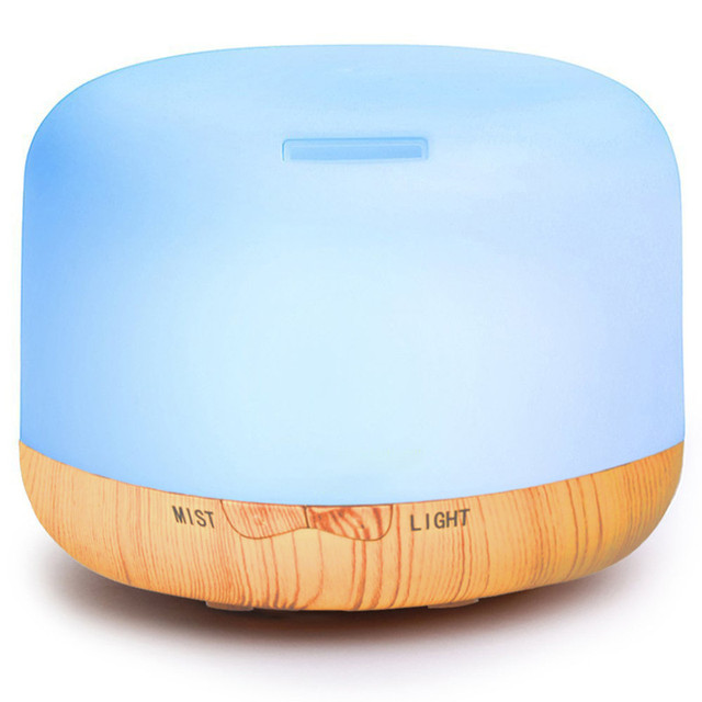 250ml Air Humidifier Essential Oil Diffuser Aroma Lamp Aromatherapy Electric Aroma Diffuser Mist Maker for Home-Wood