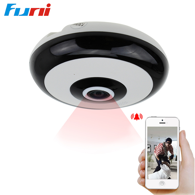 Funi 1.3MP 3D VR Wifi IP Camera Wi-fi 360 Degree Camera IP Fisheye Panoramic 960P Wifi IP Cam   Wireless Video Camera TF Card