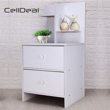 Bedside Table Bedroom Cabinet Organizer Night Stand 2 Drawer Shelf Storage Muebles De Dormitorio Nightstands Chest of Drawers