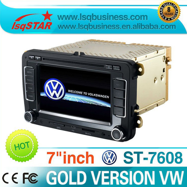 For VW Passat B6 car Radio player with GPS Navigation BT Steering wheel control radio MP3 MP4