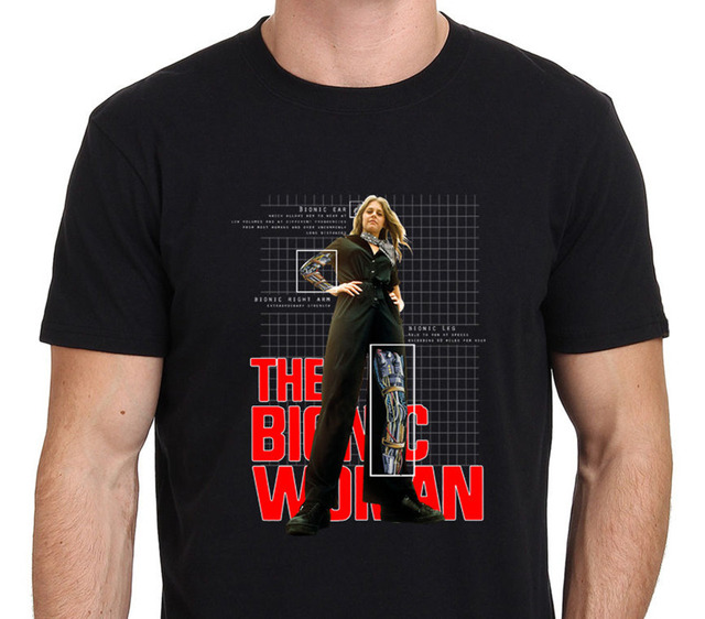 T Shirts Fashion 2018 Crew Neck Women Short-Sleeve Bionic Woman Lindsay Wagner Printing Shirt