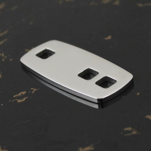 Free Shipping PL388 High Quality Square S.S316L Surgical Stainless Steel Pendant