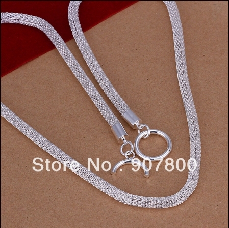 Factory price silver chain TO necklace fashion classic jewelry party accessory birthday gift good quality free shipping