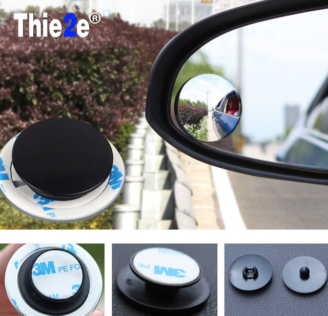 2pcs/lot 2016 New 360 Degree Car mirror Wide Angle Round Convex Blind Spot mirror for parking Rear view mirror Rain Shade