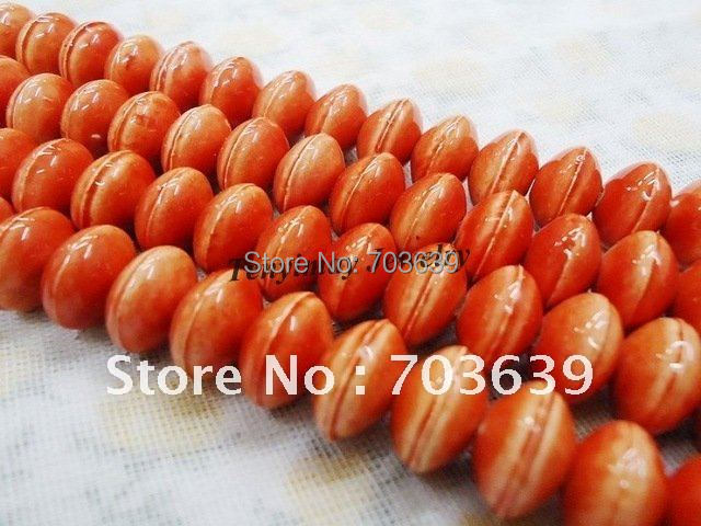 Wholesale 100pcs 12mm Oblate Shape Ceramic Beads For DIY Free Shipping (orange color)