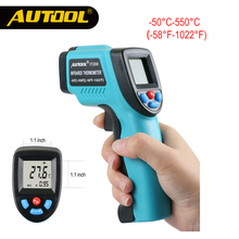 AUTOOL IT200 IR Pyrometer Infrared Thermometer LCD Digital Temperature Measure Industry Surface High Temp Repair Dropshipping