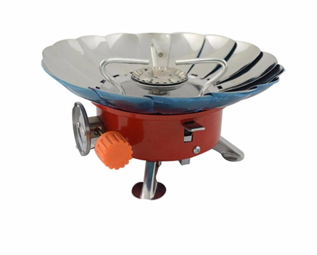 4000 BTU Portable Outdoor Stove Windproof Stainless Steel Gas Stove Outdoor Cookware Picnic Gas Burner Cooking Furnace