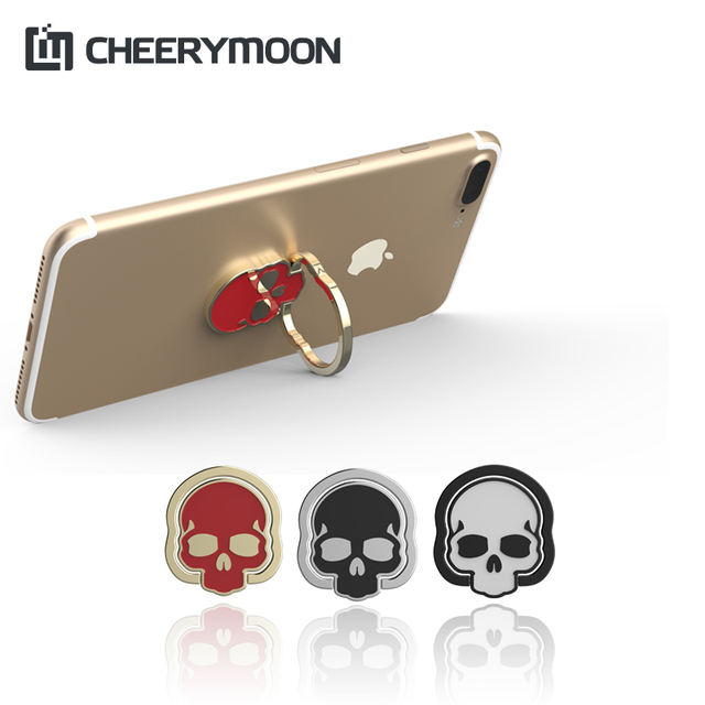 CHEERYMOON Original Skeleton Ring Holder Universal Mobile Phone Ring Stand Metal Finger Grip For iPhone Bracket Full Tracking