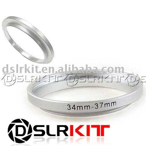 Silver 34 to 37mm34mm-37mm 34-37 mm 34 to 37 Step Up Ring Filter Adapter