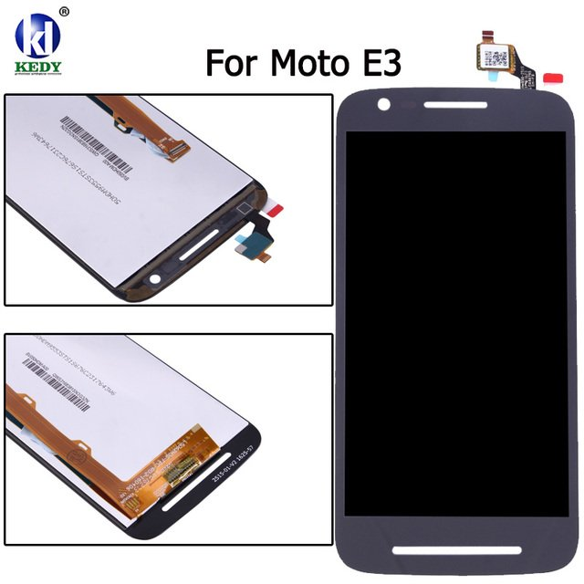 Black Color For Motorola Moto E3 XT1700 XT1706 LCD Display +Touch Digitizer Screen Assembly Replacement With Free Tools