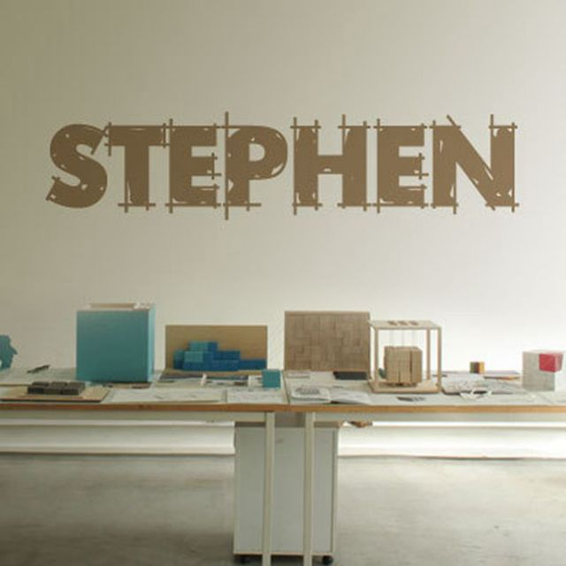 Min.order $7,Personalized customize name wall stickers letter pattern(French Spanish etc.) vinyl sticky for store name