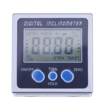 Digital Protractor Inclinometer Angle Level Box With Three Magnets Base Electronic Protractor 360 Angle Gauge Meter Inclinometer
