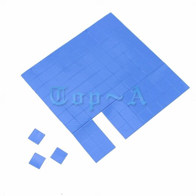 100pcs Gdstime 10mm*10mm*1mm Thermal Pad GPU CPU Heatsink Cooling Conductive Silicone Pads 10mm x 1mm High Quality
