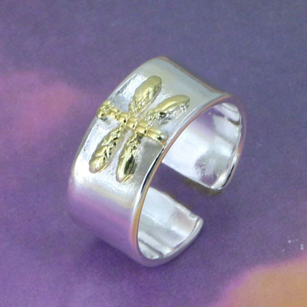 S-R011 Free shipping,wholesale jewelry dragonfly  silver ring,high quality ,fashion/classic jewelry, Nickle free,antiallergic