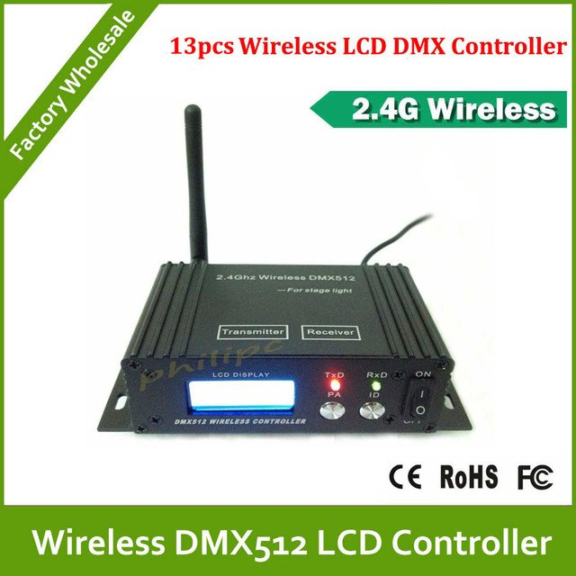 DHL Free Shipping  2.4G LCD DMX512 wireless receiver/transmitter,lighting equipment