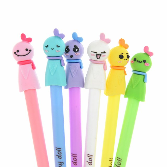 10 Pcs Cute Face Black ink  Gel Pen Cute Pens Kawaii Expression Stationery School Office Supplies Children Student Prize Gife