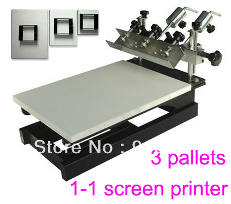 FAST and FREE shipping! New 1 Color Simple Screen Printing Press with Removable Pallet  t-shirt printer equipment carousel