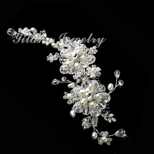 Crystal Austrian Rhinestone Hair Comb Wedding Bridal Vintage Hair Accessories Women Headpieces Headwear bridal comb