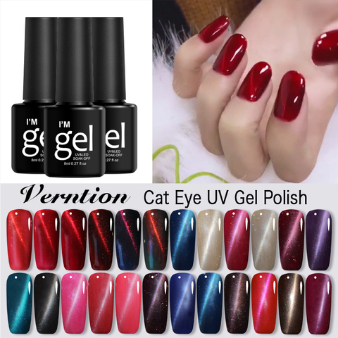 Buy Verntion Color Magic New 3D Change Magnetism Cat Eye Gel Polish Design  Manicure Tool 3D Lucky Tips Gel Nail Polish UV Gel Beauty in the online  store Verntion Official Store at