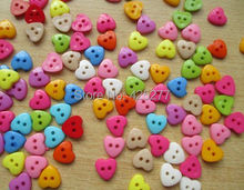 300 Pcs Mixed Nylon Heart 2 Holes Sewing Buttons Scrapbooking 12mm Knopf Bouton  022006003