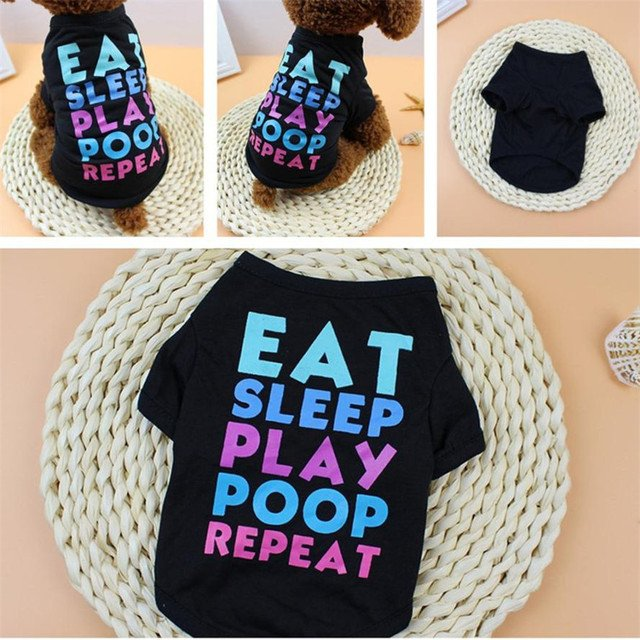New Dogs T-Shirt 1pc Summer Dog Clothing Polyester T-Shirt Puppy Costume For Small Dog Pets Clothing Size XS/S/M/L/XL Best Gift