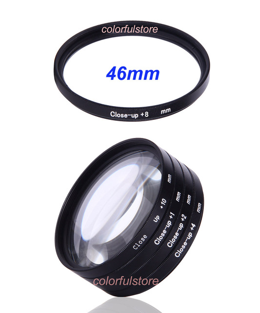 46mm 46 mm Close-up Close Up Filter Macro Lenses Filters Diopter 5x +1 +2 +4 +8 +10 For Canon Nikon Sony Olympus Pentax Lens B46