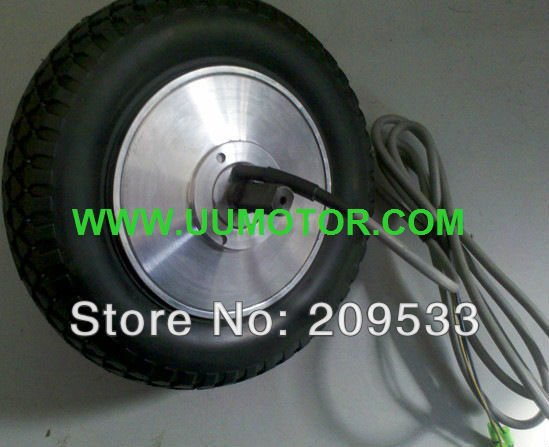 8 inch 250W  hub motor wheel with tyre for electric scooter hall sensorless