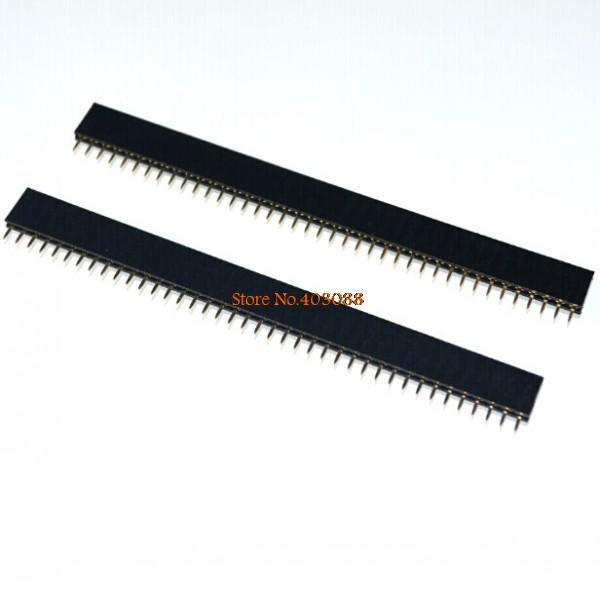10pcs Row needles 2. 54 mm 2X40 PIN double row by row needles on both sides of the same length