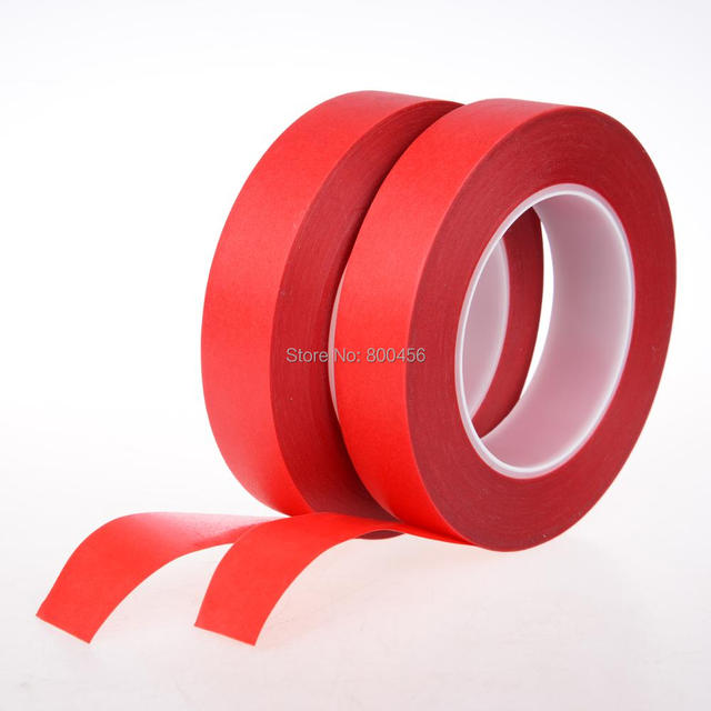 single sided Red high temperature tape Red paper Masking tape  20mm*33m Retail